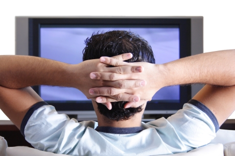 tv books man-watching-tv