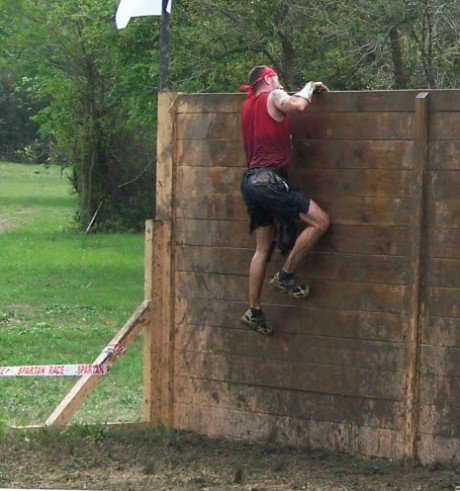 obstacles mud-run-wall