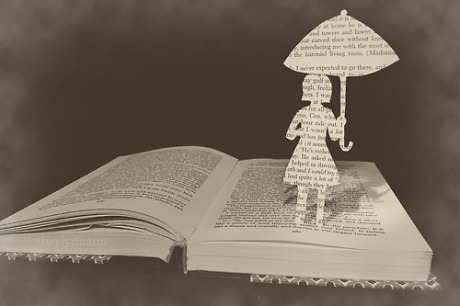 book reading-umbrella