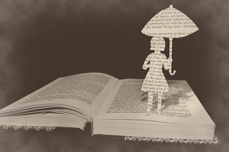 book reading-umbrella