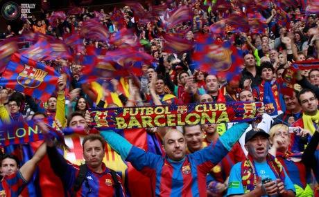 soccer fans barcelona